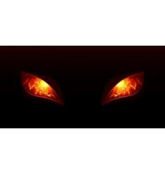 Glowing eyes vector