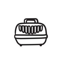 pet carrier box sketch icon vector image