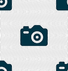 Photo Camera icon sign Seamless pattern with vector image