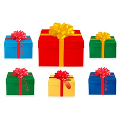 set of Christmas boxes vector image vector image