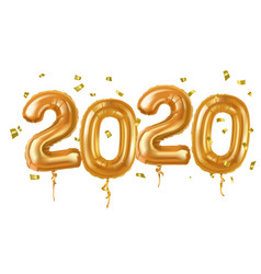 2020 happy new year in gold vector image