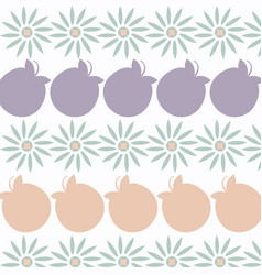 abstract floral simple background image vector image