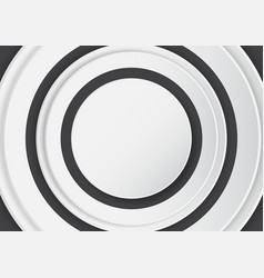 abstract white circle on black background vector image