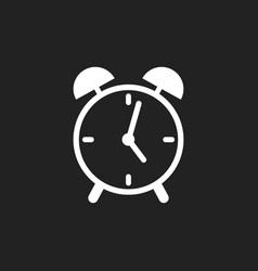 alarm clock icon flat design style simple icon on vector image