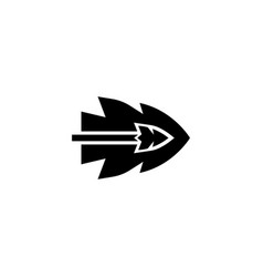 Arrow flying flat icon vector
