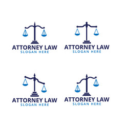 Attorney law scale logo icon template vector