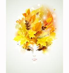 Autumn women vector