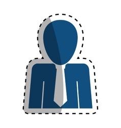 Businessman with tie pictogram vector