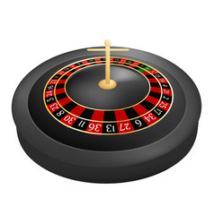 casino roulette red black mockup realistic style vector image