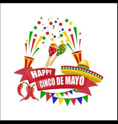 Cinco de mayo an inscription with a wish of vector