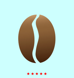 coffee bean it is icon vector image