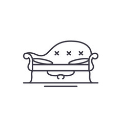 couch line icon concept couch linear vector image