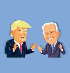 donald trump versus joe biden editorial vector image