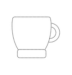 Dotted shape coffee cup drink beverage icon vector