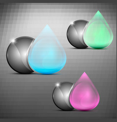 drop and sphere logo vector image