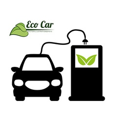 eco car vector image