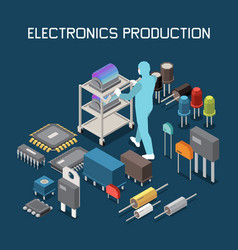 Electronic components production composition vector