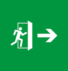 Emergency exit sign of fire exit icon for safety vector
