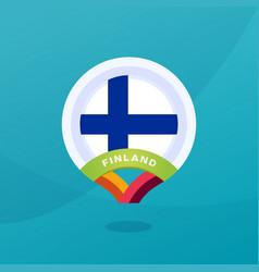 Finland flag map location pin european football vector