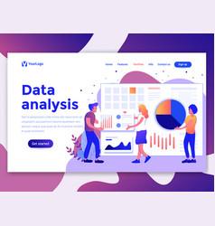 flat modern design wesite template - data vector image