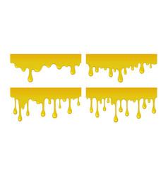 flow and drop of honey vector image