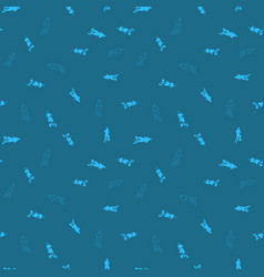 Football player seamless pattern background vector