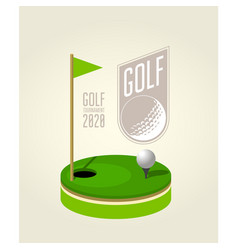 golf tournament poster design template - golf vector image