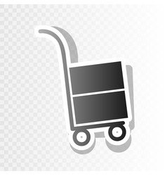 hand truck sign new year blackish icon on vector image