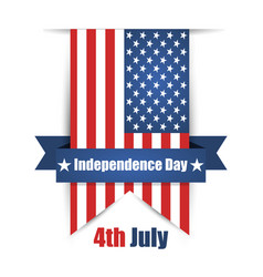 hanging ribbon on the day of independence day vector image