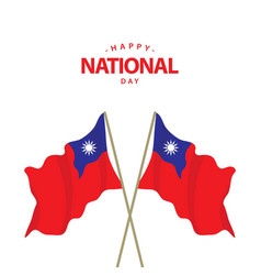Happy taiwan national day template design vector