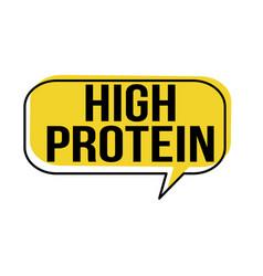 High protein speech bubble vector
