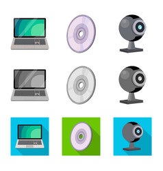 Isolated object of laptop and device icon vector