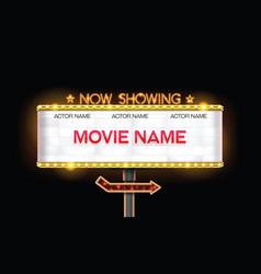 Light sign billboard cinema vector