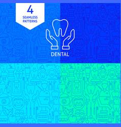 line dental patterns vector image