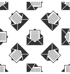 Mail icon seamless pattern envelope symbol e-mail vector