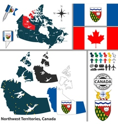 Map of Northwest Territories vector image