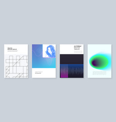 minimal brochure templates with colorful abstract vector image