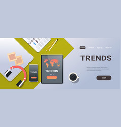 mobile application world global trends concept top vector image