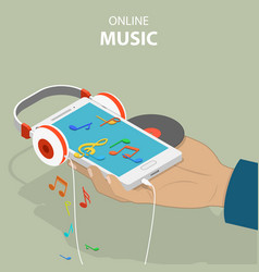 Mobile music isometric flat conceptual vector