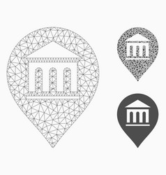 Museum marker mesh network model and vector