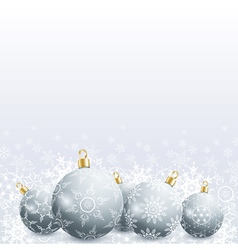 New Year and Christmas card with christmas ball vector