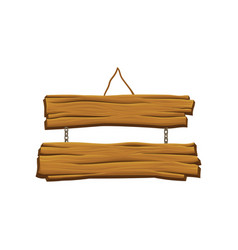 Old hanging wooden signboard brown textured vector