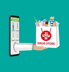 Online pharmacy or drugstore vector