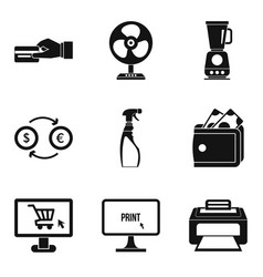 paid services icons set simple style vector image