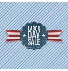 Paper Card with Labor Day Sale Text vector image