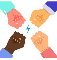 People power concept vector