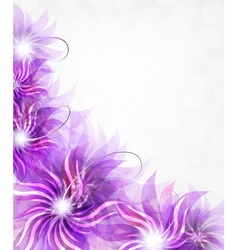 Purple flowers background vector