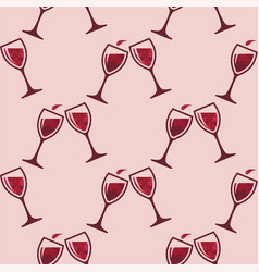 red wine glass splash seamless pattern vector image
