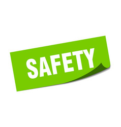 Safety sticker safety square sign safety peeler vector