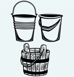 set buckets vector image